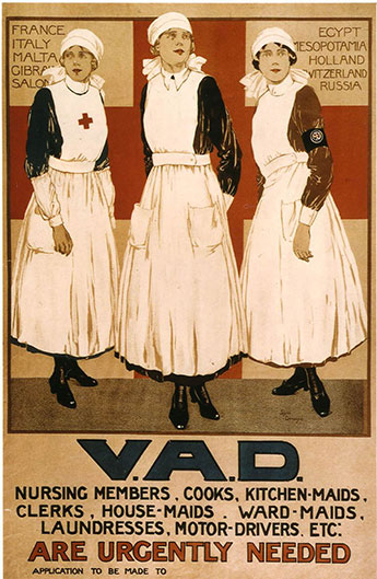 Voluntary Aid Detachments were people who volunteered for the British Red Cross during the first world war.