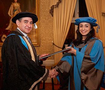 Vice-Chancellor Professor Julius Weinberg said Hadia Tajik was an inspiration to young people across the globe.
