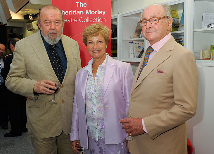 David Jacobs with former Kingston Chancellor Sir Peter Hall and Ruth Leon