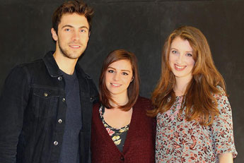 The Daily Fail Kingston creative team - composer Joseph Alexander, star Charlotte Mitchell and writer Fiona O'Malley