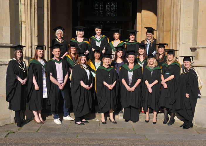Graduates from The Royal Marsden receievd their degrees at a ceremony in St Luke's Church in Chelsea.