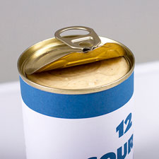 The 12 course canned meal was created as a comment on mass consumersim.