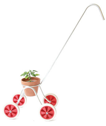 Alice also designed a stroller for her plant progeny which she showed at London exhibition New Designers this summer.