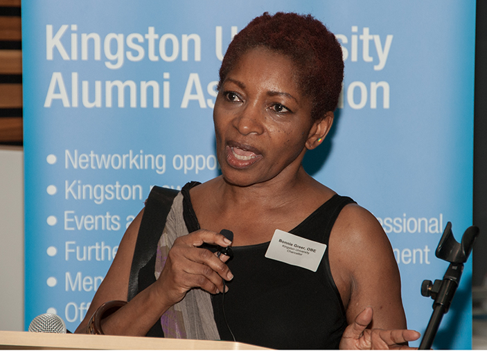 Bonnie Greer talks to Kingston alumni
