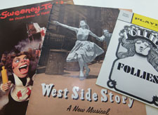 The archive contains a host of vintage theatre programmes from shows such as Sweeney Todd, West Side Story and Follies.