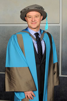 Chief Executive of the Civil Aviation Authority Andrew Haines receives an honorary degree recognising his outstanding contribution to business and entrepreneurship.