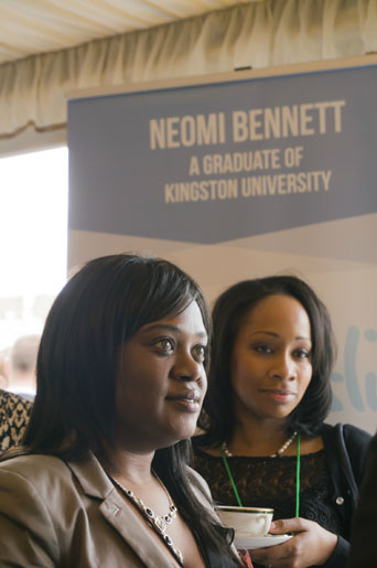 Neomi Bennett, front, showcased her Neoslip invention at the House of Commons.