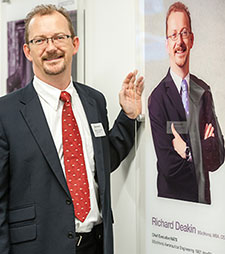 Richard Deakin with his Made in Kingston wall of fame panel