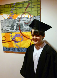 Jacob Booth from St Matthews school in Surbiton was one of the mini-graduates who spent the day at Kingston University.