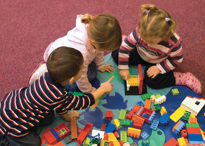 Pre-school children need to learn vital skills such as listening and teamwork.