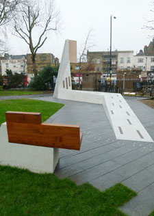Phase one of the Bethnal Green Memorial, designed by Kingston graduate Harry Paticas, is now complete and ready for the 70th anniversary.