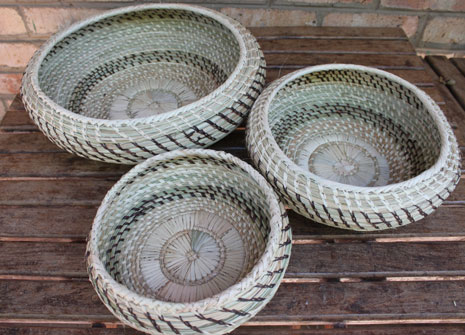 Baskets made by the Lupane Women's Centre will be on display at Design Indaba in South Africa.
