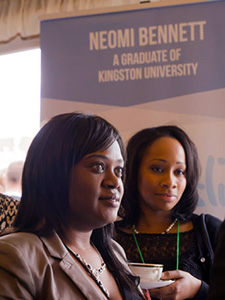 Enterprising nursing graduate Neomi Bennett, left,  now sells her Neoslip anti-embolism aid around the globe.