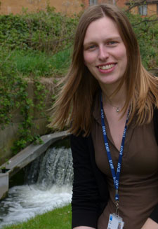 Biodiversity and landscape administrator Rachel Burgess is coordinating the volunteers at Kingston University.
