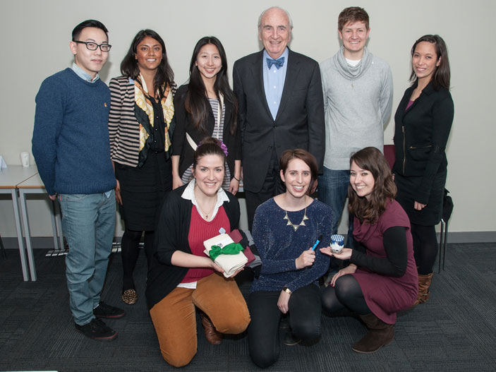Lord Young meets Kingston students on the MA Creative Economy course.