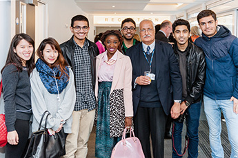 International students at the launch of KULISC
