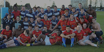 Alumni and students who played rugby