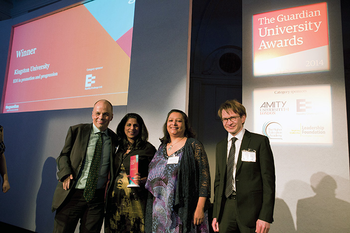 Kingston University wins HR Diversity Initiative award at the Guardian University Awards