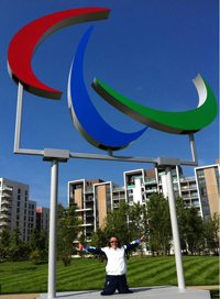 Martine in the Paralympic Park
