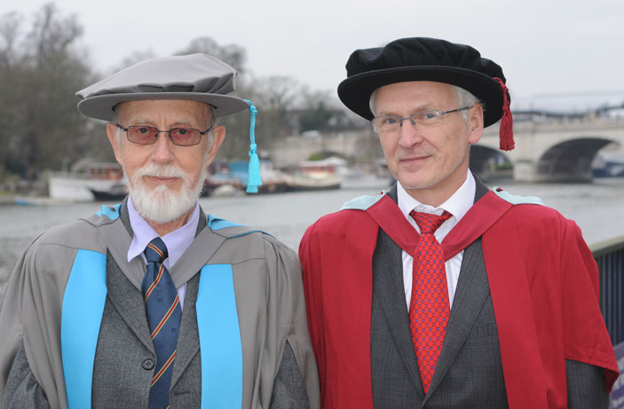 David Lindsley, left, has made an outstanding contribution to engineering, according to Professor Andrzej Ordys, Head of the School of Mechanical and Automotive Engineering.