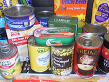 More families are relying on food banks as increasing numbers of people are affected by the current economic problems.