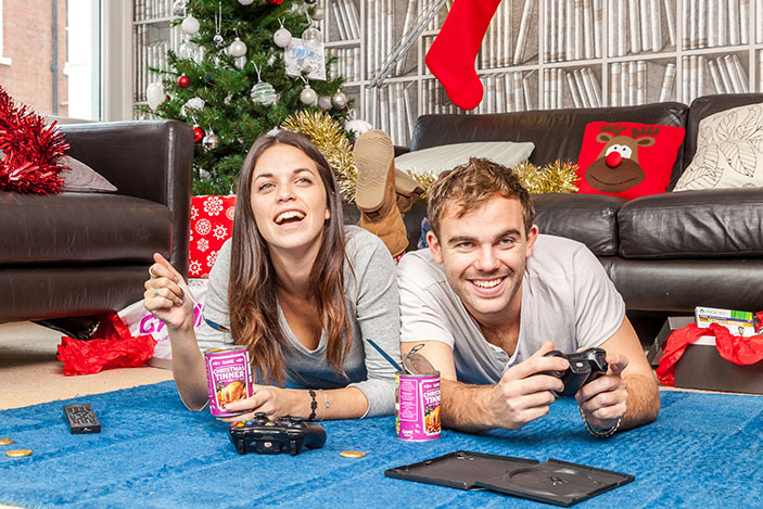 Kingston University graphic design student Chris Godfrey has come up with the perfect recipe to stave off festive hunger pangs – an all-day Christmas feast in a tin.