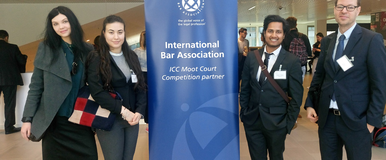 Law students competed at the International Criminal Court Mooting competition in the Hague, Spring 2017