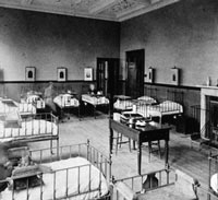 A ward at Cromwell House, the hospital's convalescent home in Highgate, North London.