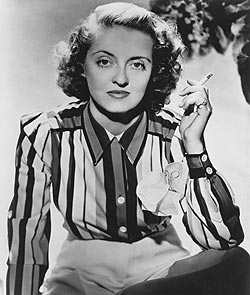 Times have changed since screen star Bette Davis puffed her way through Hollywood blockbusters.  Image courtesy of the BFI