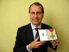 Pro Vice-Chancellor for Employer Engagement, Neil Latham was proud to receive his CBE