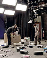 Tom Wrigglesworth and Matt Robinson working on their HP – Invent film