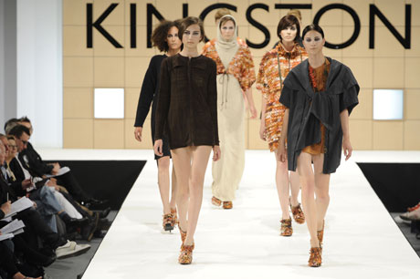 Knitwear specialist Grace Melville's National Treasures collection was one of the highlights of Kingston University's Graduate Fashion Week show