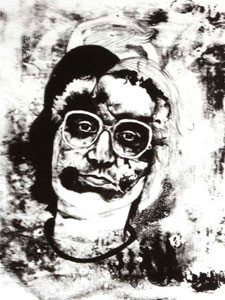 Criminals, a final-year project by Alice Moloney, features this illustration of the notorious Rose West