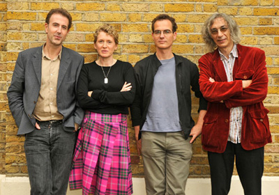 Centre staff, from left, Professor Peter Osborne, Dr Stella Sandford, Professor Peter Hallward and Professor Eric Alliez.
