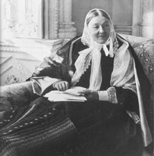 Florence Nightingale in an 1891 image taken at her sister's home, Claydon House in Buckinghamshire.