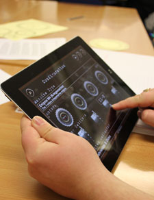 The students have been using an iPad app, which replicates the behaviour of the code breaking machines, to help them prepare their teaching materials.