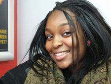 Real estate management student Dami Omisore is helping staff the Kingston University Clearing hotline just one year after calling it herself.