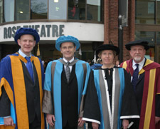 Professor Matthew Humphreys (far left) said Mr Kay was a great inspiration to current law students at Kingston.