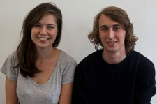 Helen Parry, third year Graphic Design student, and Stuart Kench, who is studying Graphic Design and Photography.