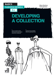 Top designer Giles Deacon illustrated the front cover image for Elinor's book (Image courtesy of AVA Publishing).