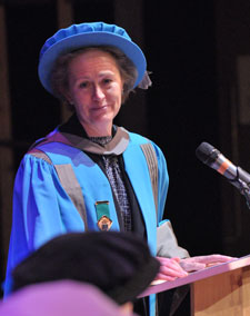 Elizabeth Sparrow urged graduating students not to limit their career aspirations.
