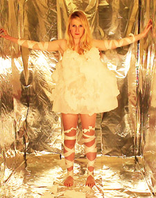 The Bubble dress, made from frozen soap bubbles was one of Emily's first experiments at Kingston.