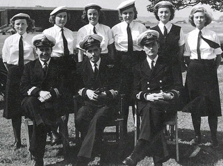 Heather Stapley (far right) served at HMS Gannet in Northern Ireland.