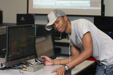 Games programming student Ivan Kabunga believes the new facility will help boost him up the career ladder.