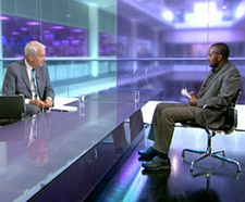 Jon Snow interviewed Jamal Osman for Channel 4 News