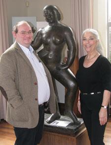 Mrs Daniel met Kingston University researcher Dr Jonathan Black at Dorich House in Kingston.