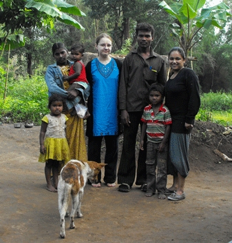 Kate and her fellow students took part in a scheme allowing them to complete part of their qualification overseas.