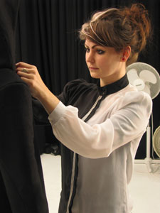 Kingston University fashion designer Loz Winney