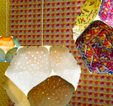 Lamp shades made by HIV positive women in South Africa will form part of a display to mark the tenth birthday of the University's MA Curating Contemporary Design course.