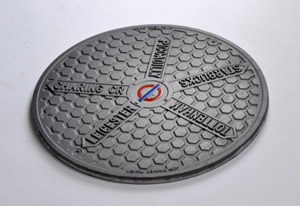 Jon Warren has designed manhole covers which give directions to nearby tube stations.